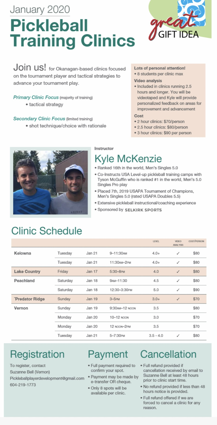 Poster for clinic McKenzie
